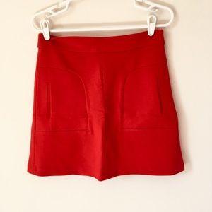Maeve Red Mini Skirt